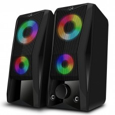 Колонки 2.0 Sven 445 / 6W / USB/ LED подсветка/ black