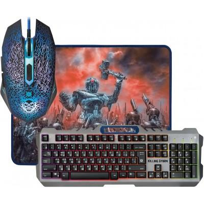 Игровой набор Defender Killing Storm MKP-013L, мышь+ клавиатура+ ковер