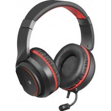 Наушники + микрофон Defender Apex,чёрный+красный,1,8м,