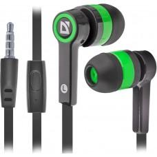 Наушники + микрофон Defender Pulse 420, чёрный+зелёный