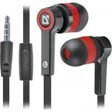Наушники + микрофон Defender Pulse 420, чёрный+красный