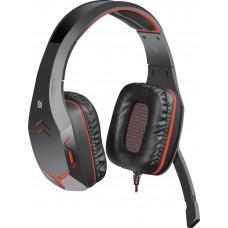 Наушники + микрофон Defender Excidium,красный+чёрный,2.2м