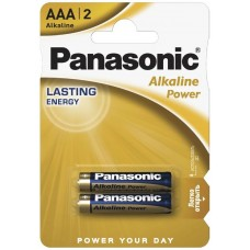 Батарейки Panasonic Batteries AAA Alkaline LR03 (2шт.) LR03REB / 2BR (BL-2)