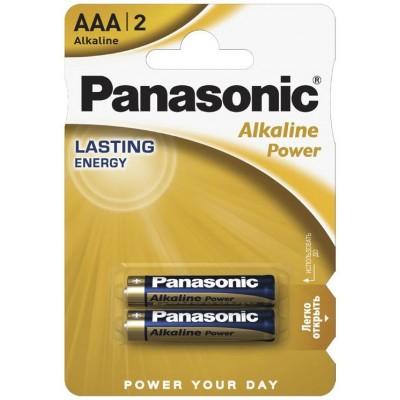 Батарейки Panasonic Batteries AAA Alkaline LR03 (2шт.) LR03REB / 2BR (BL-2)