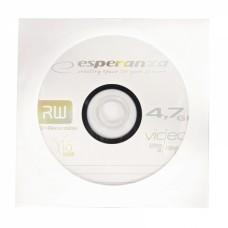 Диск DVD+R ESPERANZA / 4,7Gb/120мин/16X / бумажный конверт [1326]