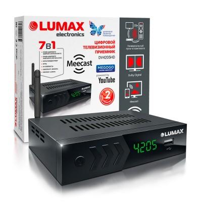 Цифровой эфирный приёмник LUMAX DV4205HD Wi-Fi DVB-T2