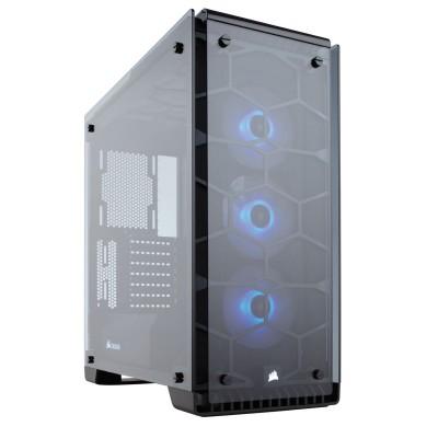 Корпус Corsair Crystal 570X RGB, без БП, black, ATX, USB 3.0