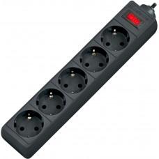 Сетевой фильтр 1.8 м Defender ES 1.8 5 розеток черный