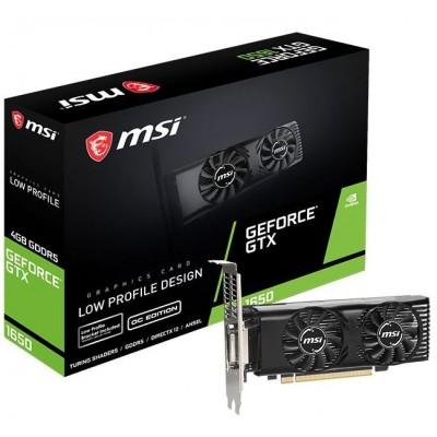 Видеокарта MSI PCI-E 4096Mb GeForce GTX 1650 (GTX 1650 4GT LP OC)