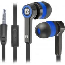 Наушники + микрофон Defender Pulse 420, чёрный+синий