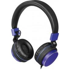 Наушники + микрофон Defender Accord 165 черный+синий, кабель 1,2 м