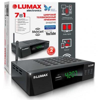 Цифровой эфирный приёмник LUMAX DV4207HD с WiFi антенной