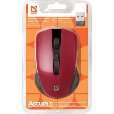 Мышь Defender Wireless Accura MM-935 (красный) беспроводная