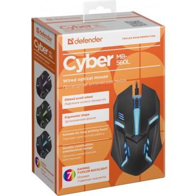 Мышь Defender Cyber MB-560L, игровая,чёрная