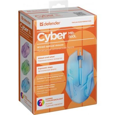 Мышь Defender Cyber MB-560L, игровая,белая