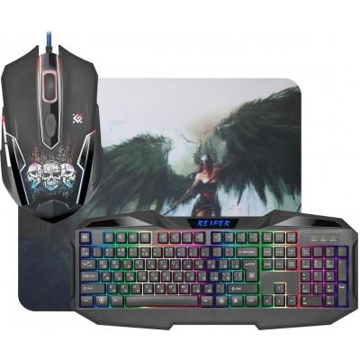 Игровой набор Defender Reaper MKP-018 ,мышь+клавиатура+ковер