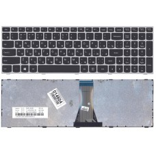 Клавиатура для Lenovo B50-30, G50-30, Z50-70 чёрная с серой рамкой