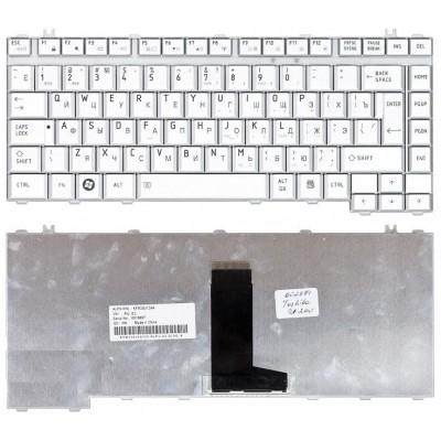 Клавиатура для Toshiba Satellite A300, M300, L300, M500 серебристая