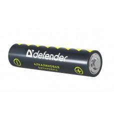 Батарейка Defender AAA, алкалиновая, LR03-4B, в блистере 4 шт