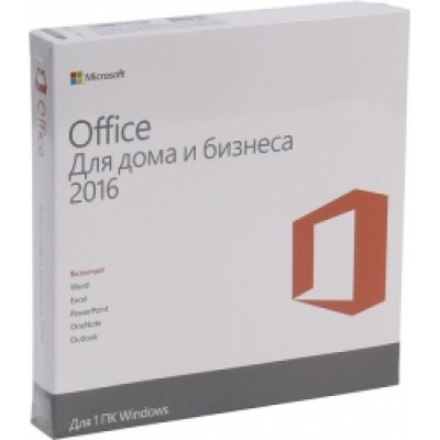 ПО Microsoft Office Home and Business 2016 32-bit/x64 Russian Russia DVD BOX  (T5D-02292)