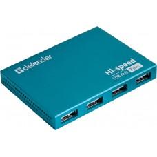 Разветвитель USB HUB Defender Septima Slim USB 7 портов, адаптер питания