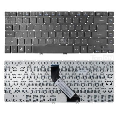 Клавиатура для Acer Aspire V5-431, V5-471 черная без рамки