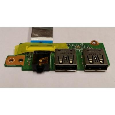 Разъём USB 2.0 + звуковой разъёме Asus K56 A56CM