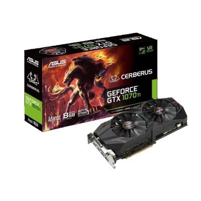 Видеокарта Asus PCI-E 8192Mb GeForce GTX1070Ti CERBERUS (CERBERUS-GTX1070TI-A8G)
