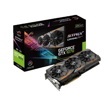 Видеокарта Asus PCI-E 8192Mb GeForce GTX1070 STRIX (STRIX-GTX1070-8G-GAMING)