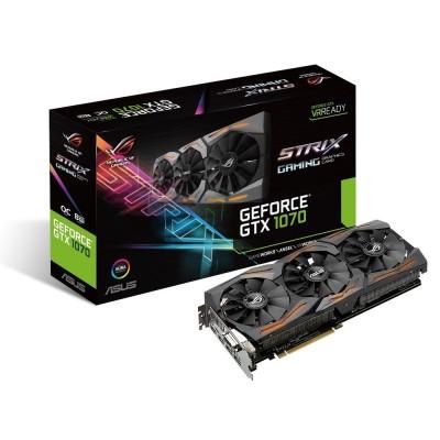 Видеокарта Asus PCI-E 8192Mb GeForce GTX1070 ROG STRIX (STRIX-GTX1070-O8G-GAMING)