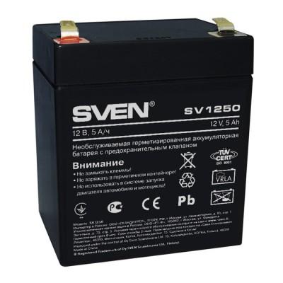 Аккум батарея 12-5 А/ч Sven SV1250