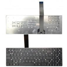 Клавиатура для Asus K55 X501 черная без рамки (плоский Enter)