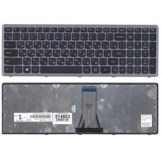 Клавиатура для Lenovo G505s, S510, Z510 черная c серебристой рамкой