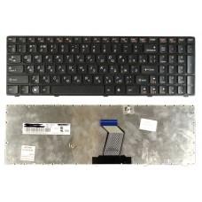 Клавиатура для Lenovo Ideapad Y570 черная рамка черная