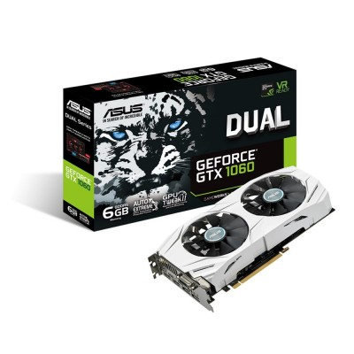 Видеокарта Asus PCI-E 6144Mb GeForce GTX1060 (DUAL-GTX1060-6G)